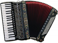 Accordion With Full Decoration