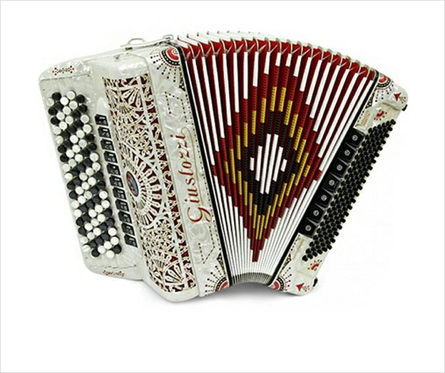 Giustozzi Mod 3110/C Musette Chromatic Accordion - The Accordion Lounge